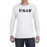 United States Air Force Square & Compass Masonic Men's Crew Neck Long Sleeve T-Shirt - [LongSleeve]