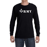 United States Army Square & Compass Masonic Men's Crew Neck Long Sleeve T-Shirt - [LongSleeve]