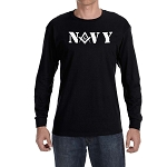 United States Navy Square & Compass Masonic Men's Crew Neck Long Sleeve T-Shirt - [LongSleeve]