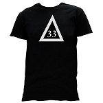 33rd Degree Scottish Rite Triangle Masonic Men's Crewneck T-Shirt - [Black]