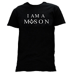 I Am a Mason Square & Compass Masonic Men's Crewneck T-Shirt - [Black]