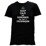 Keep Calm Remember You Are a Freemason Square & Compass Masonic Men's Crewneck T-Shirt - [Black]