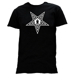 Order of the Eastern Star Masonic Men's Crewneck T-Shirt - [Black]