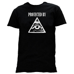 Protected by All Seeing Eye Masonic Men's Crewneck T-Shirt - [Black]