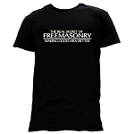 Real Secret of Freemasonry Making Good Men Better Masonic Men's Crewneck T-Shirt - [Black]