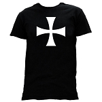 Teutonic Cross Masonic Men's Crewneck T-Shirt - [Black]