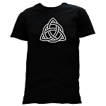 Celtic Triquetra Masonic Men's Crewneck T-Shirt - [Black]