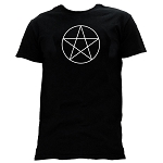 Pentacle Point Up Masonic Men's Crewneck T-Shirt - [Black]