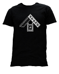 Past Master Euclid's 47th Proposition Masonic Men's Crewneck T-Shirt - [Black]