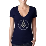 Let Our Voices Be Heard Let Our Work Be Seen Masonic Women's V-Neck T-Shirt