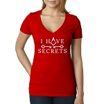 I Have Secrets Masonic Women's V-Neck T-Shirt