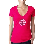 Celtic Knotwork Masonic Women's V-Neck T-Shirt