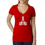 Level Masonic Women's V-Neck T-Shirt