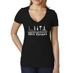Well Equipped Working Tools Masonic Women's V-Neck T-Shirt