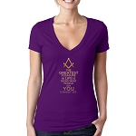 The Greatest Gift in Life is Doing What People Say You Cannot Do Masonic Women's V-Neck T-Shirt