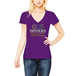 Order of the Eastern Star Sisters Rock Masonic Women's V-Neck T-Shirt