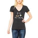 Love One Another Masonry Order of the Eastern Star Masonic Women's V-Neck T-Shirt