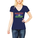 Earned Not Given Order of the Eastern Star Masonic Women's V-Neck T-Shirt