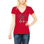 I Call Them Family Order of the Eastern Star Masonic Women's V-Neck T-Shirt