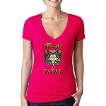 Beautiful F.A.T.A.L. Order of the Eastern Star Masonic Women's V-Neck T-Shirt