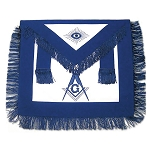 Fringed Master Mason Masonic Apron - [Blue & White]