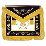 Grand Lodge Member with Course Fringe Masonic Apron - [Purple & Gold]