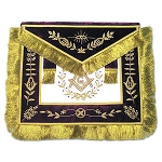Grand Lodge Member with Fine Fringe Masonic Apron - [Purple & Gold]