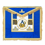 Grand Lodge Installed Master Masonic Apron - [Blue & Gold]