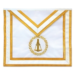 Specialty Masonic Apron - [Gold & White]