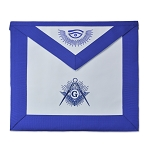 Shining Square & Compass Master Mason Masonic Apron - [Blue & White]