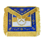 Grand Lodge Master with Blue Velvet Masonic Apron - [Blue & Gold]