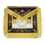 Grand Lodge Master with Purple Velvet Masonic Apron - [Purple & Gold]