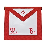 Master Mason Word Red Masonic Apron - [Red & White]