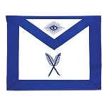 Secretary Masonic Officer Apron - [Blue & White]
