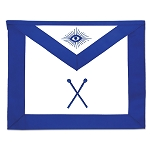 Director of Ceremonies Masonic Officer Apron - [Blue & White]