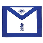 Junior Warden Masonic Officer Apron - [Blue & White]