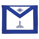 Senior Warden Masonic Officer Apron - [Blue & White]