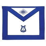 Musician Masonic Officer Apron - [Blue & White]