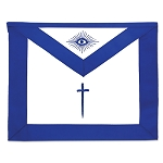 Outer Guard / Tyler Masonic Officer Apron - [Blue & White]
