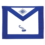 Steward Masonic Officer Apron - [Blue & White]