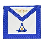 Past Master Masonic Apron with Gold Accents