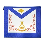 14th Degree Scottish Rite Masonic Apron - [Blue & White]