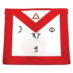 6th Degree Scottish Rite Masonic Apron - [Red & White]