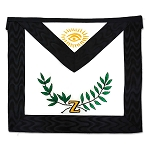4th Degree Scottish Rite Masonic Apron - [Black & White]