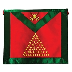 15th Degree Scottish Rite Masonic Apron - [Green & Red]