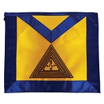 20th Degree Scottish Rite Masonic Apron - [Blue & Gold]
