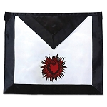 11th Degree Scottish Rite Masonic Apron - [Black & White]