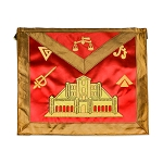 16th Degree Scottish Rite Masonic Apron - [Brown & Red]
