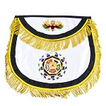 32nd Degree Rounded Scottish Rite Masonic Apron - [Black & Gold]