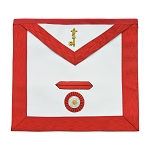 7th Degree Scottish Rite Masonic Apron - [Red & White]